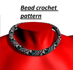 Bead crochet pattern for beading necklace, geometric pattern