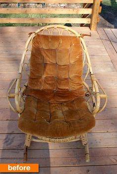 Before & After: A Brown Bamboo Rocker Gets a Boost! | Apartment Therapy