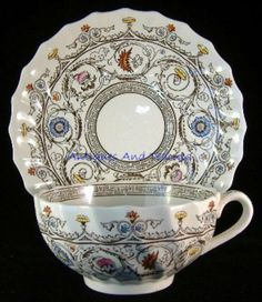 Spode Copeland Florence Breakfast Size Cup And Saucer 1930s Cream Ware – Antiques And Teacups