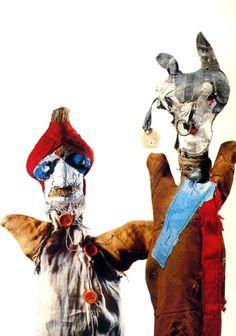 THE BARBER OF BAGDAD on left is one of my favourites #PaulKlee #Klee #puppets #marionettes #art #modernart #naiveart #puppettheatre #BarberofBagdad #handpuppet