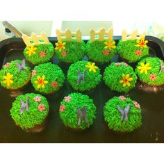 Mothers Day Garden Cupcakes. Hand made by me :-)