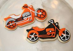 Harley Davidson Cookies - Welcome Home from The Long Ride treats??? Yes, please!
