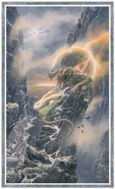 Glorfindel and the Balrog by Alan Lee Jrr Tolkien, Tolkien Books, Fantasy Concept Art, Fantasy Artwork, High Fantasy, Fantasy Rpg, Thranduil, Glorfindel, Morgoth