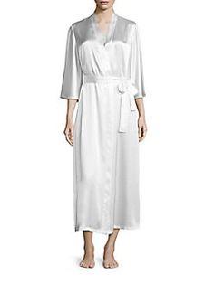 Oscar de la Renta Sleepwear - Plus Charmeuse Robe