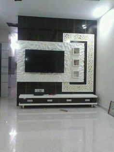 Lcd Unit Design, Lcd Wall Design, Modern Tv Unit Designs, Wall Unit Designs, Modern Tv Wall Units, Living Room Tv Unit Designs, Tv Unit Furniture Design, Tv Unit Interior Design, Showroom Interior Design
