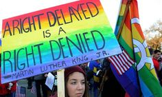 Supreme court debates gay marriage... This is such a difficult issue for many people but ultimately I hope this message will prevail.