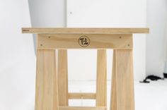 PLYWOOD table top sitting on bare white pine