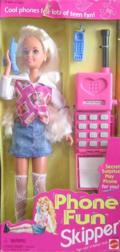 Barbie Phone Fun SKIPPER Doll w Secret Surprise Play Phone For YOU! I carried the phone with me everywhere Barbie 90s, Barbie Skipper, Vintage Barbie Dolls, Barbie World, Barbie Clothes, Childhood Toys, Childhood Memories, Sweet Memories, Johnny Lozada