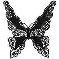 Spitzenkragen Applikation Schmetterling XL