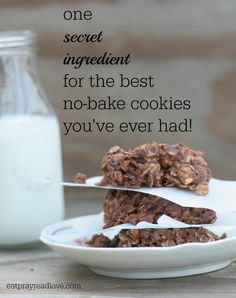 one secret ingredient makes these Peanut Butter Fudge No Bake Cookies some of the best you've tasted!