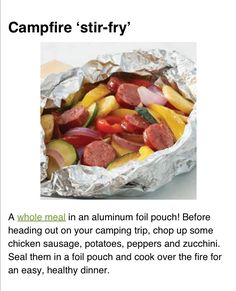 Camping food; foil meals