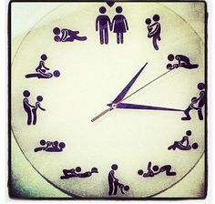 Clock on the wall says...
