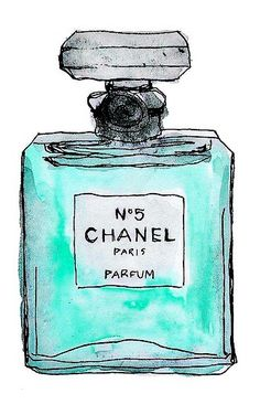 Colorful illustrations of perfume/accessories/brands. Hmmm....