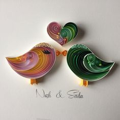 Hey, I found this really awesome Etsy listing at https://www.etsy.com/listing/222007196/quilled-paper-art-love-birds