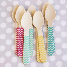 Chevron Ice Cream Spoons
