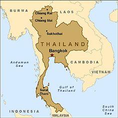 Map - Thailand