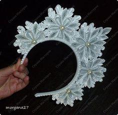 Diy Ribbon, Ribbon Work, Wire Crown, Cultural Crafts, Pearl Headband, Kanzashi Flowers, Circlet, Fascinator Hats, Diy Hair Accessories