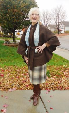 Capes/Ponchos Jodie's Touch of Style Capes & Ponchos, Real Style, Ladies Shoes, Real Women, Plaid Scarf, Shoe Boots, Touch, Lady, Clothing