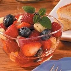 Though fresh fruit steals the show in this morning medley, the subtle honey sauce makes it an especially sweet treat. 'It takes just 10 minutes to assemble this easy salad, which tastes so good with brunch,' says Dorothy Dinnean of Harrison, Arkansas. TIP: Don't have those fruits on hand? Try blackberries, mangoes or peaches instead.