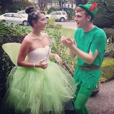 Tinker Bell and Peter Pan from Peter Pan | 23 Couples Costumes That Will Give You Relationship Goals
