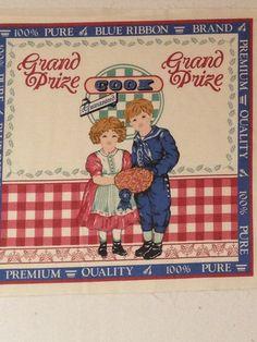 Vintage Feedsack Blue Ribbon Grand Prize by KoopsKountryKalico, $3.99