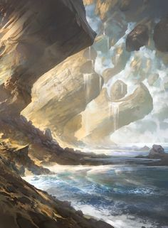 Island - Battle for Zendikar - A gallery-quality illustration art print by Noah Bradley for sale.