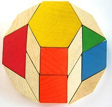 Wow! I did not know this was possible: Dodecagon made of pattern blocks