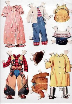 Here is the vintage Whitman #2129 BETTY & BILLY paper doll set, from 19 55 (not a reproduction) , cut, with two die-cute, cardboard paper dolls, and all the cut clothes shown in the scans. Everything