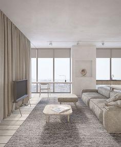 Bright and spacious livingroom      dmitryman.com  dmitrymandesign@gmail.com #interiordesign #concept #minimalism #visualization #CG_graphic #ukraine #dnepr #wood #parquet #stone #plaster #stucco #minimalistic #style #rustic #ideas #inspiration #natural #simple #furniture #moodboard #concrete #minimal #calm #monochrome #grey #cozy #warm #art #lifestyle #livingroom #livingroomdesign