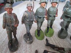 19 Massefiguren Soldaten Wehrmacht 2. Weltkrieg Leyla Elastolin Lineol | eBay