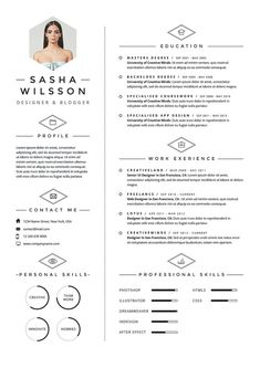 Resume CV Design Cover Letter Template Instant door OddBitsStudio