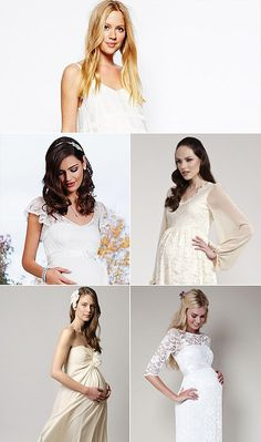 7376e2daf1ac Here Comes the Bride . . . and Baby! 15 Wedding Dresses For Moms-to-Be