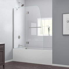 "DreamLine SHDR-3148586 Aqua Hinged Tub Shower Door 48"" x 58"" with Clear Glass   i like this longer version for less splash."