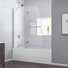 "DreamLine SHDR-3148586 Aqua Hinged Tub Shower Door 48"" x 58"" with Clear Glass   i like this longer version for less splash."