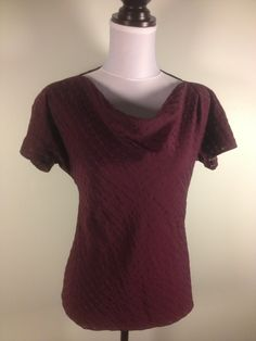 @CalvinKlein #burgundy #blouse with softly draping neckline. Alternating peek-a-boo #stripes. Only $16.99 at http://dodiesdoodads.com/index.php?l=388324