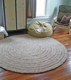 Custom Made Hand Crochet Round Rug Extra Large By Anaiddesigns 425 00