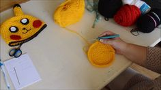 Tutorial on how to make a Pokemon Pikachu hat FB Page . Ravelry page . He is a cute and smart boy that likes to tell you all Pikachu Hat, Pikachu Pokeball, Ravelry, Make A Pokemon, Vintage Fans, Hat Crochet, Needle And Thread, Couture, Craft Fairs