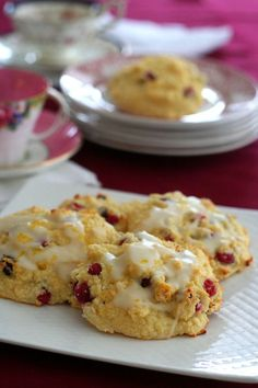 Cranberry Orange Drop Low Carb Scones