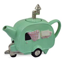 Cute and covers more obsessions - unique teapots and retro campers!  Love it - must have.