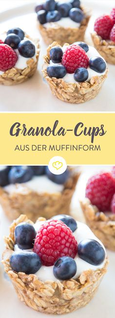 Crunchy crispy crunchy shells Muesli from the Muffinform - Brunch Breakfast And Brunch, Breakfast Recipes, Dessert Recipes, Breakfast Bake, Muesli, Law Carb, Birthday Brunch, Snacks, Food Inspiration
