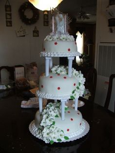 traditional..FIRST WEDDING CAKES By MARYNES on CakeCentral.com
