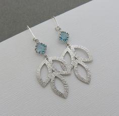 Silver Leaf Earrings Handmade Jewelry, minimalist jewelry by MarciaHDesigns on Etsy https://www.etsy.com/listing/491871144/silver-leaf-earrings-large-silver-leaf