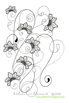 a little lime: Henna Drum - Challenge #130: gorgeous zentangle and floral art!