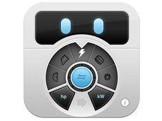 """""""Convertbot"""" unit converter app icon by Tapbots 2009 • https://itunes.apple.com/us/app/convertbot-amazing-unit-converter/id308928075"""