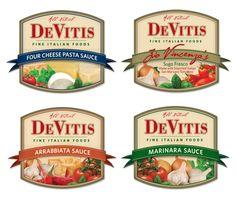 DeVitis Fine Italian Foods Pasta Sauce Labels by Vincenzo DeVitis, via Behance