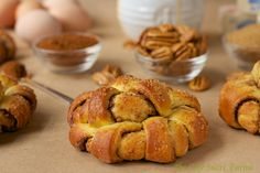 Twirly-Swirly Pecan Cinnamon Brioche Rolls via @Chris Cote @ The Café Sucré Farine