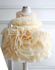 atacado frete grátis novo designer vestidos menina flor menina crianças 3d flor crianças princesa vestido vestido de baile para festa de casamento US $174.99