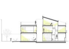 Casa Pátio Vertical,Corte