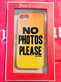 Juicy Couture IPhone 5/5s Case No Photos Please JUICY hipster iPhone 5 case #iPhone #iPhonecase
