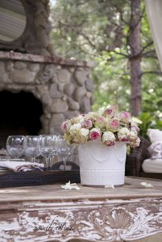FRENCH COUNTRY COTTAGE: Vintage garden container